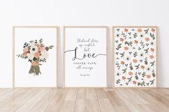 Set of 6 flower prints, Digital love posters, Birthday gift Product Image 4