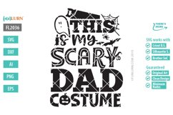 This is My Scary Dad Costume SVG Cut File Product Image 2