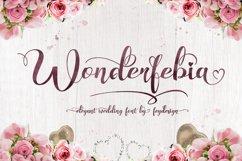 Wonderfebia - Script Wedding Font Product Image 1