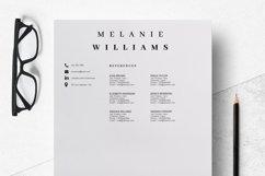Resume Template Minimalist | CV Template Word - Melanie Product Image 5
