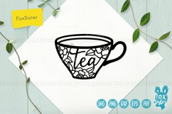 Tea and Coffee cups svg, Tea time Product Image 2