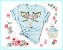 Giraffe Face with Roses Svg Dxf Eps Png Pdf Files Product Image 2