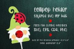 Gnome and Ladybug Lollipop Holder SVG Product Image 1
