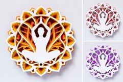 Meditation Mandala 3D Layered SVG Cut File Product Image 6