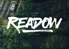 Readow Brush Font with Free Vector Pack Product Image 2