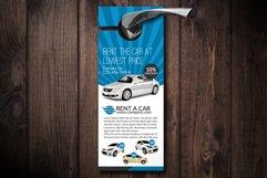 Rent A Car Door Hangers Product Image 1