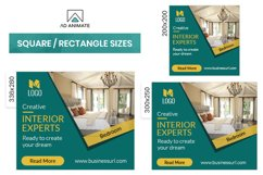 Real Estate | Interior Designer Banner Ad Template - RE001 Product Image 2