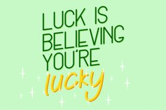 Lucky Green Font Duo Product Image 2
