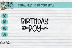 Birthday Boy, party, kids, arrow, mom, SVG cut Product Image 1