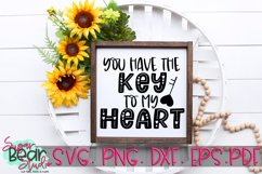 Key to my Heart - A Valentine SVG Product Image 2