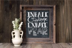 Inhale Courage Exhale Fear SVG Cut File Product Image 4