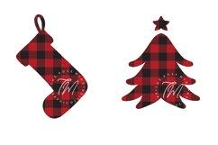 Buffalo plaid Christmas, shapes, sublimations Product Image 7