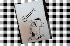 Donkey Smart Toilet Paper Towel Embroidery Design Product Image 2