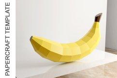 PDF Template of Banana fruit papercraft template /3d craft Product Image 1