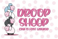 Droop Sheep - Crafty Font Layered Product Image 1
