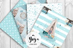 YOGA Digital Paper Pack - Pattern Fashion Illustration Product Image 4