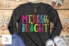 Merry & Bright SVG - Christmas Product Image 1