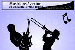 Musicians SVG / Musicians silhouette / Musicians clipart / Musicians cricut file / band silhouette scrapbook kit / music / digital file / EPS Product Image 2
