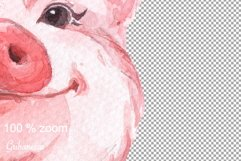 Pig and pattern. Watercolor Product Image 4
