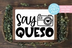 Say Queso Cinco de Mayo SVG DXF EPS PNG Cut File Product Image 1