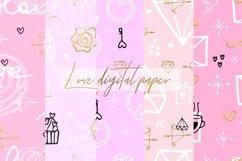 Love Digital Paper.Wedding, Valentines Day Digital Paper Product Image 1