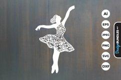 Ballerina Papercut SVG Product Image 1
