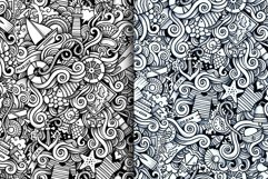 Marine Doodles Seamless Patterns Product Image 3
