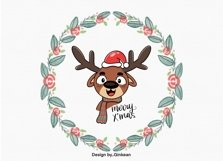 Christmas animal png, Merry christma, Christmas png, cutfile Product Image 4