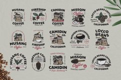 15 Coffee Vintage Badges Set Product Image 1