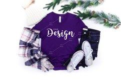 Bella Canvas Mockup 3001 Team Purple T-shirt Winter Product Image 1