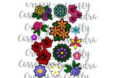 Flower bundle - flower svg - flower silhouette - roses daisy Product Image 2