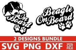 2x Beagle On Board Bundle svg, Dog Breed svg, Dog on Board Product Image 1