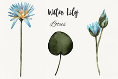 Flower lotus art watercolor for printable prints, pattern Product Image 2