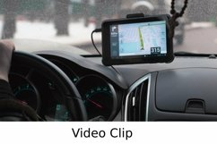 Video: Driving a car with GPS device over dashboard Product Image 1