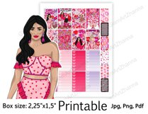 """Galentine's Day Printable Sticker Box Size 2,25""""x1,5"""" Product Image 4"""