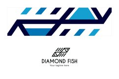 Diamond Fish - Abstract Geometrical Fishes Stock Logo Product Image 3