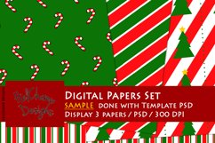 3 Panels Mockup for Digital Papers - M05 Product Image 4