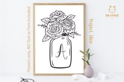 Mason Jar SVG file, Mason Jar Cut file, Mason Jar with roses Product Image 5