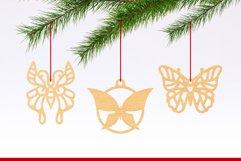 Laser Cut Files Vol.2 - 50 Butterfly Ornaments Bundle Product Image 6