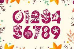 Fall Vibes - Floral Font Autumn Season Product Image 6