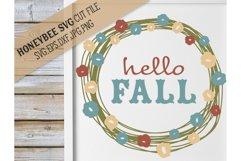 Hello Fall Pretty Wreath svg Product Image 1