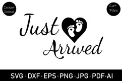 baby foot print SVG, cut file, clipart, new baby svg, dxf Product Image 2