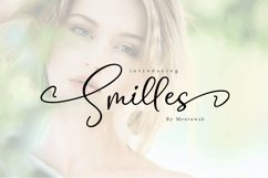 Smilles Script Font Product Image 1
