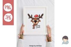 Christmas animal png, Merry christma, Christmas png, cutfile Product Image 2