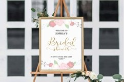 Gold welcome bridal shower sign, Welcome printable, DAD_24 Product Image 4