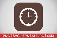 Vector Clock Icon Product Image 1