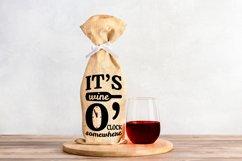 Wine Bag SVG Bundle, Christmas Wine SVG files for Cricut Product Image 8