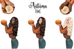 FALL CLIPART - AUTUMN GIRL BOSS, Planner Graphics Product Image 4