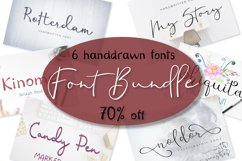 Font bundle - 6 handwritten and calligraphy fonts Product Image 1