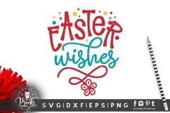 Easter Wishes SVG | Easter SVG | Floral Easter SVG Cut File Product Image 1